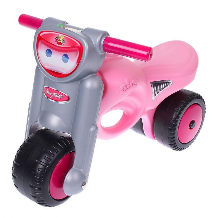 Каталка-мотоцикл Мини-мото pink Coloma, 4577RTМашинки-каталки для детей<br>Каталка-мотоцикл Мини-мото pink Coloma, 4577RT<br>