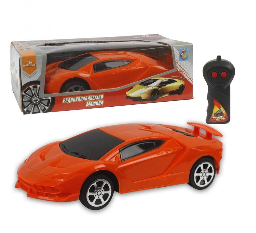 картинка Машина Спортавто на р/у, масштаб 1:26, 27 МГц, оранжевая от магазина Bebikam.ru