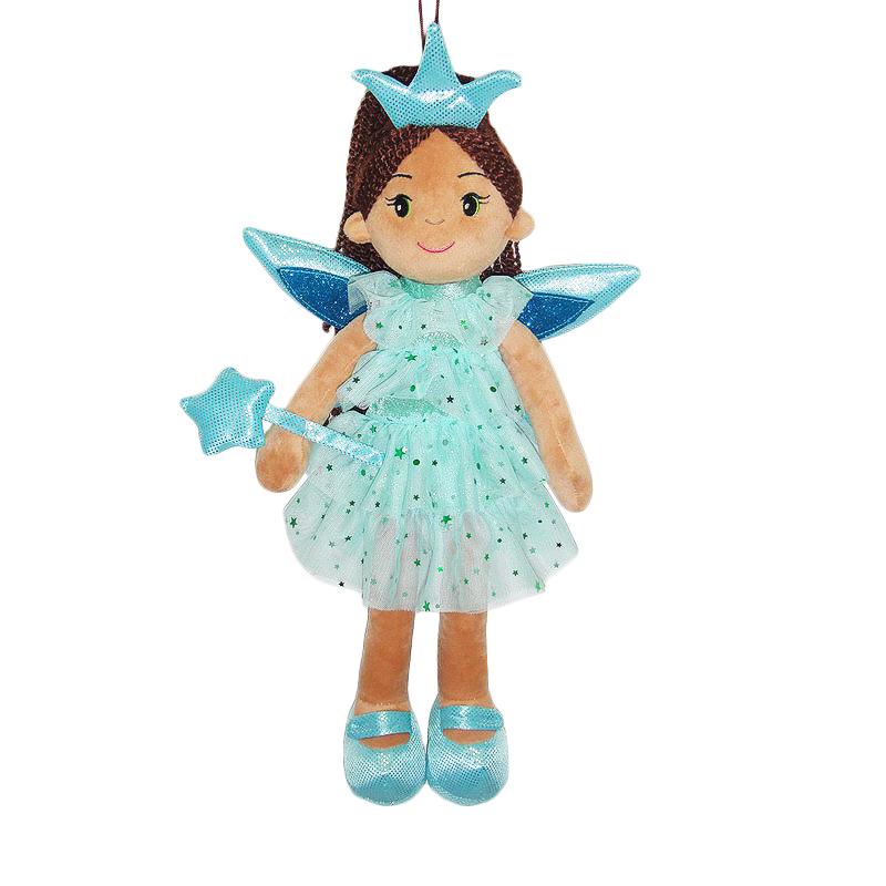 Купить Кукла мягконабивная Фея в голубом платье, 45 см, ABtoys