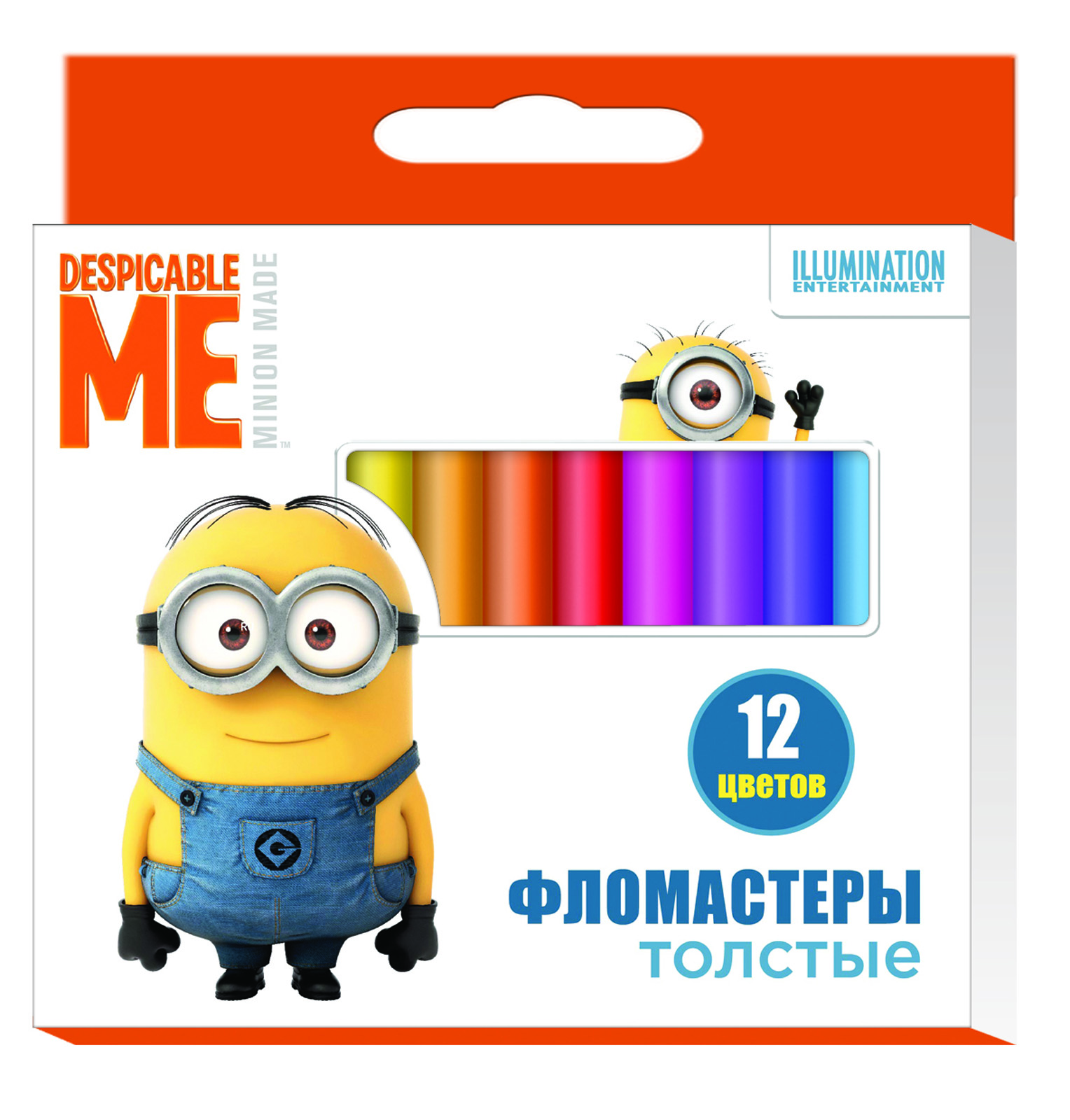 Толстые фломастеры Гадкий Я с миньонами Universal Studios, 12 цветов