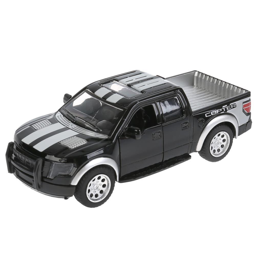 Купить Металлическая инерционная модель – Пикап, 12, 5 см, открывающиеся двери, черный, Технопарк