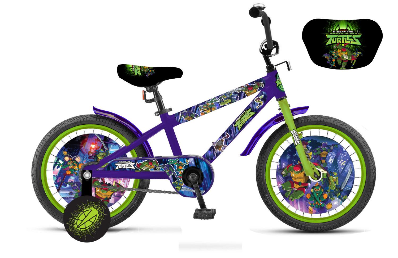 Детский двухколесный велосипед - Черепашки, колеса, 14 дюйм