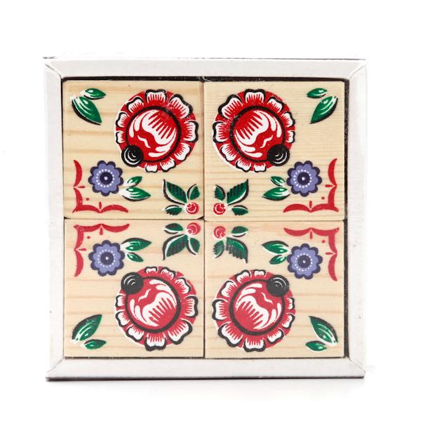 Набор из 4-х кубиков - Русские узоры из серии Собери картинкуКубики<br>Набор из 4-х кубиков - Русские узоры из серии Собери картинку<br>