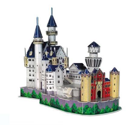 Купить 3D puzzles. Пазлы объёмные. Замок Нойшванштайн, Cubic Fun