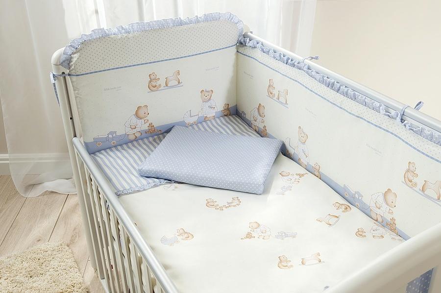Комплект постельного белья для детей - Тиффани, голубойДетское постельное белье<br>Комплект постельного белья для детей - Тиффани, голубой<br>