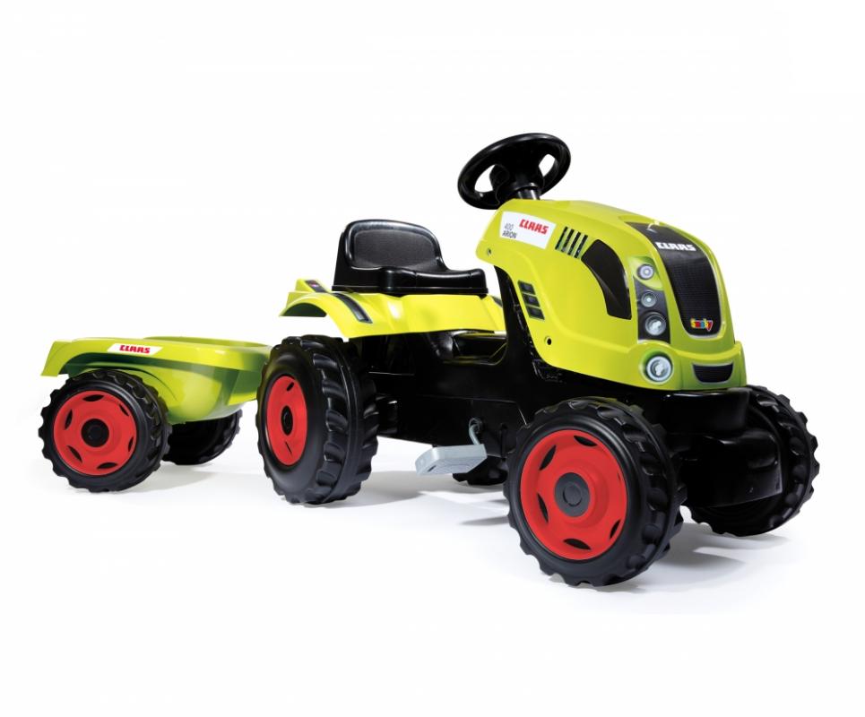 Трактор педальный Smoby XL CLAAS, с прицепом