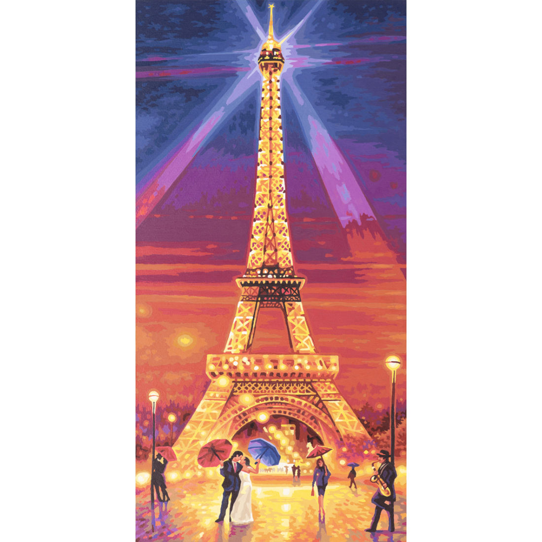 Набор для раскрашивания по номерам «Эйфелева башня ночью», 40 х 80 см.Раскраски по номерам Schipper<br>Набор для раскрашивания по номерам «Эйфелева башня ночью», 40 х 80 см.<br>