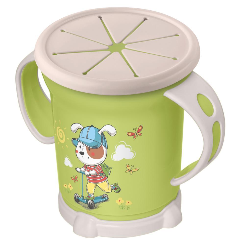 Чашка для сухих завтраков с декором, 270 мл, зеленый фото