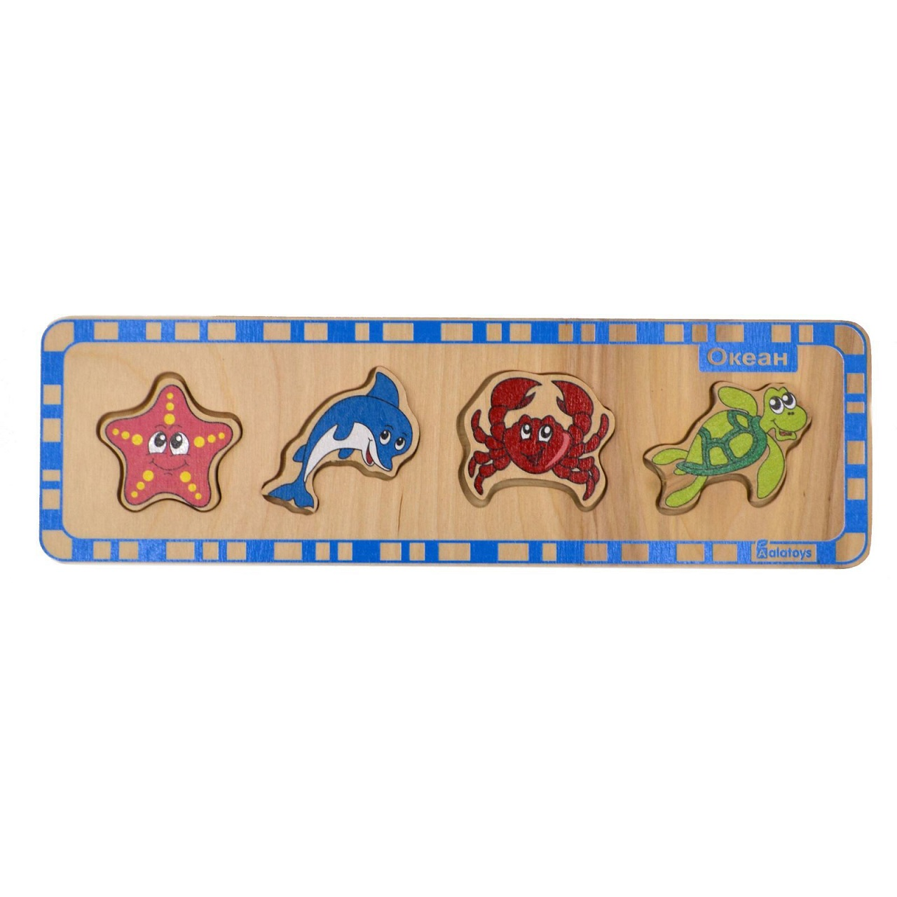 Пазл деревянный для малышей – ОкеанРамки и паззлы<br>Пазл деревянный для малышей – Океан<br>