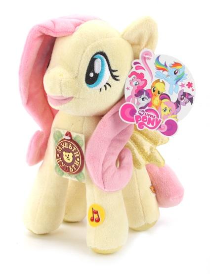 Мягкая игрушка пони Флаттершай из мультфильма «Моя маленькая пони», свет и звукМоя маленькая пони (My Little Pony)<br>Мягкая игрушка пони Флаттершай из мультфильма «Моя маленькая пони», свет и звук<br>