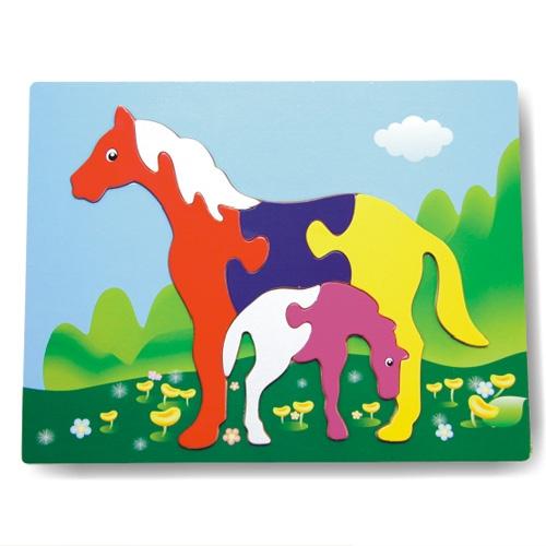 Деревянный пазл в рамке - ЛошадкиРамки и паззлы<br>Деревянный пазл в рамке - Лошадки<br>