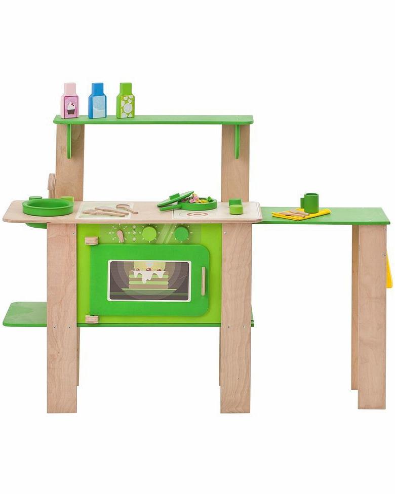 Кухня из дерева для мальчиков и девочек - Мятный лимонад, с 16 аксессуарамиДетские игровые кухни<br>Кухня из дерева для мальчиков и девочек - Мятный лимонад, с 16 аксессуарами<br>