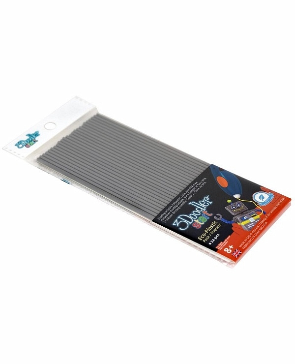Эко-пластик к 3Д ручке 3Doodler Start, цвет серый, 24 штуки  Limited, 3DS-ECO08-GREY-24)3D ручки<br>Эко-пластик к 3Д ручке 3Doodler Start, цвет серый, 24 штуки  Limited, 3DS-ECO08-GREY-24)<br>