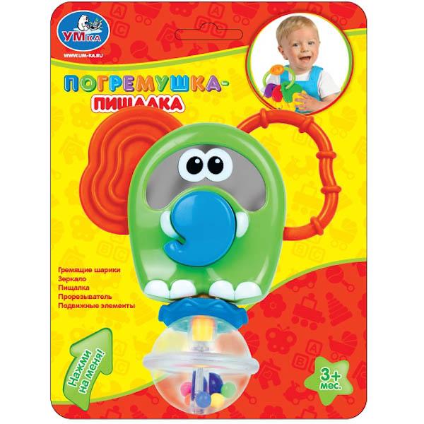 Погремушка-пищалкаДетские погремушки и подвесные игрушки на кроватку<br>Погремушка-пищалка<br>