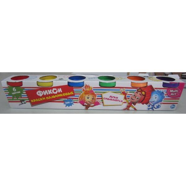 Пальчиковые краски - Фиксики, 6 штук от Toyway