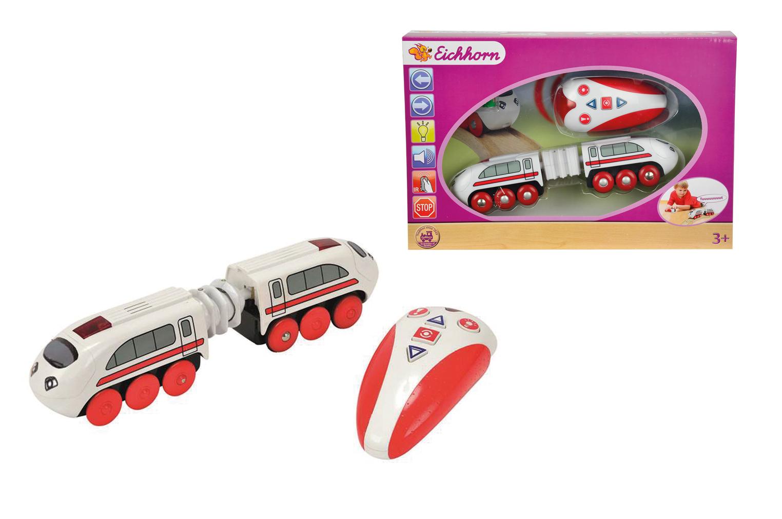 Скоростной поезд на пульте управлении - Железная дорога для малышей, артикул: 113259