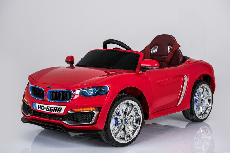 Электромобиль BMW красный