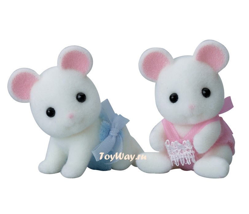 Купить Sylvanian Families - Белые Мышата-двойняшки, Epoch