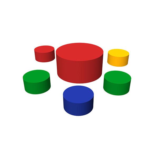 Купить Набор мягких модулей - 6 элементов, Romana
