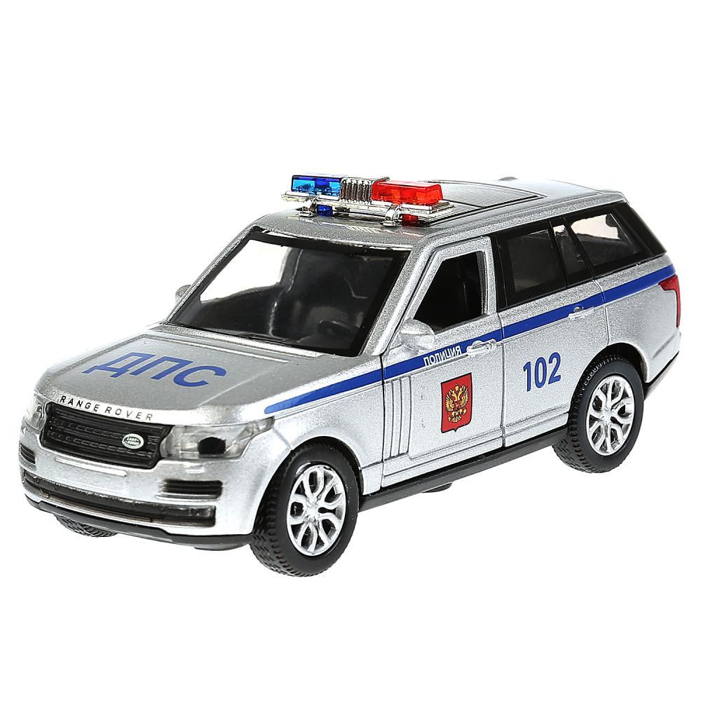 Инерционная металлическая машина Range Rover Vogue – Полиция, 12 см, свет-звук, Технопарк  - купить со скидкой