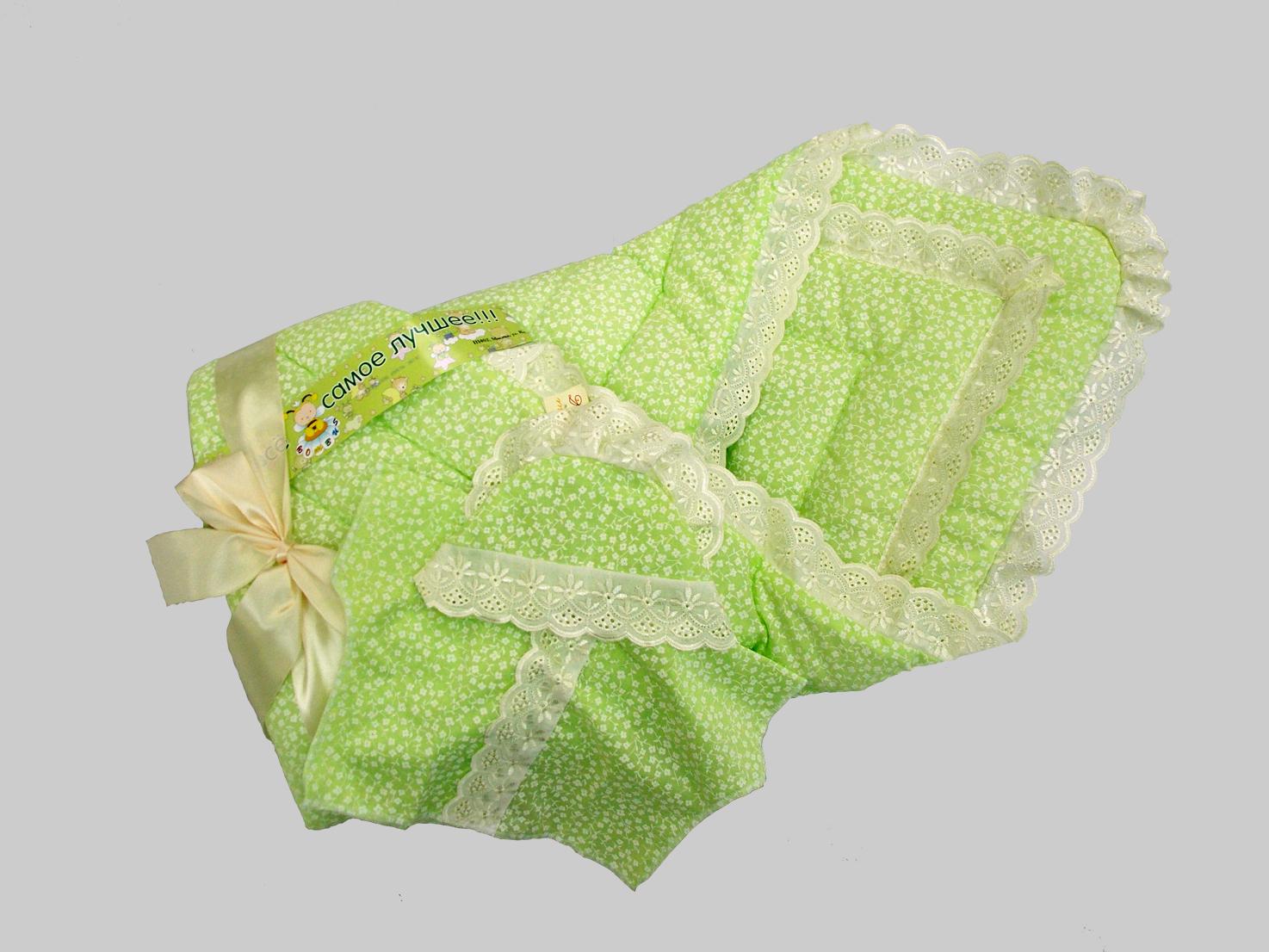Одеяло на выписку - Фунтик, 4 предмета, зеленоеКомплекты на выписку<br>Одеяло на выписку - Фунтик, 4 предмета, зеленое<br>