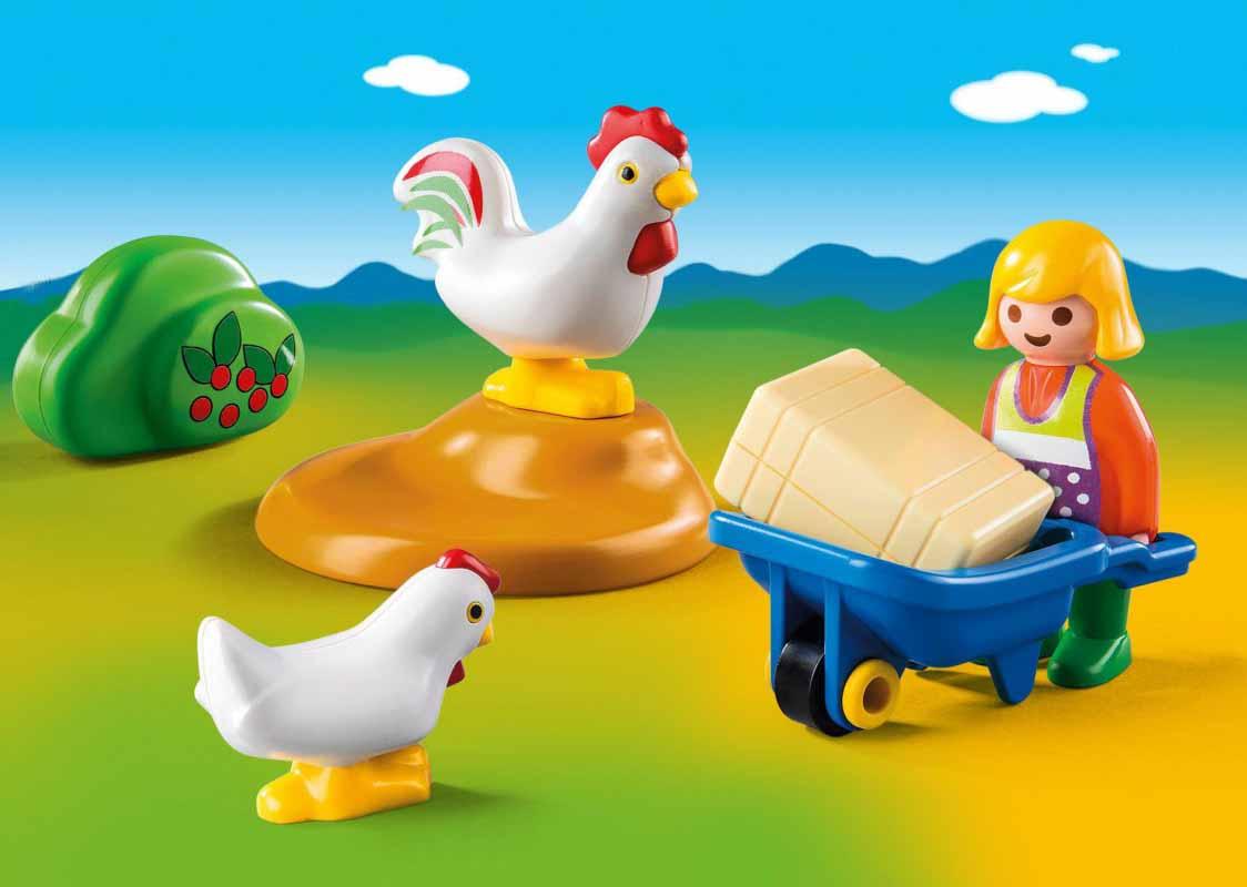 Игровой набор 1.2.3 - Жена фермера с курочкамиФерма<br>Игровой набор 1.2.3 - Жена фермера с курочками<br>