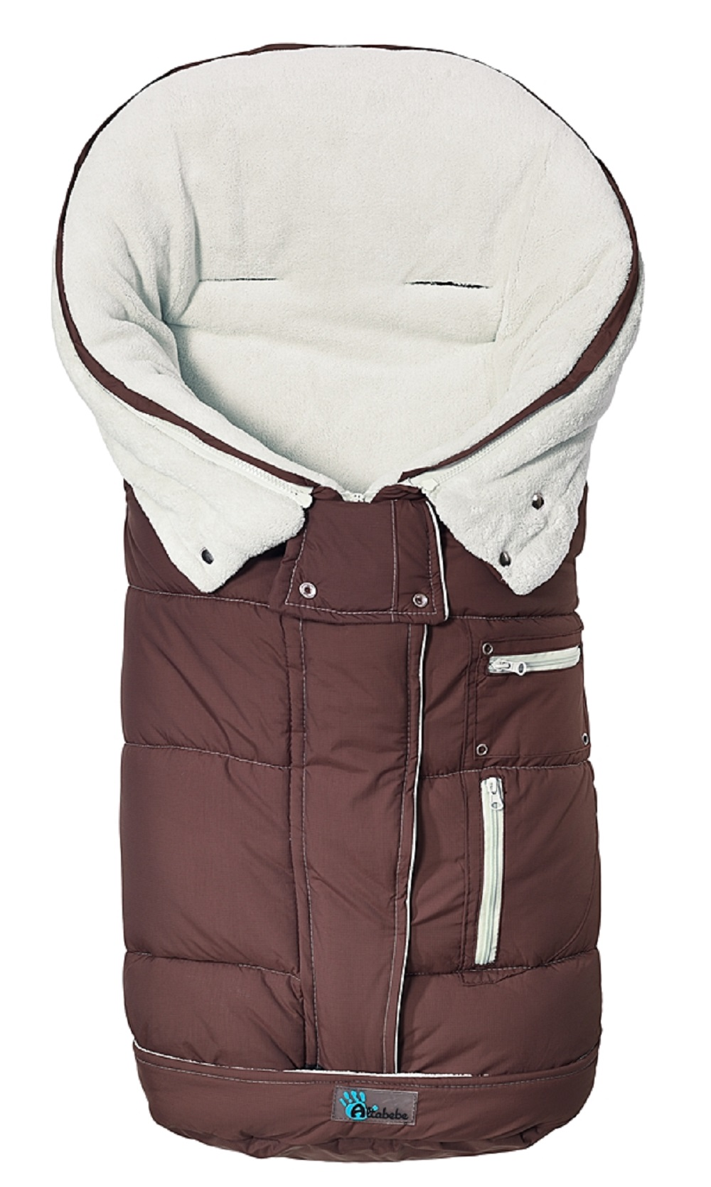 Зимний конверт Altabebe Clima Guard brown/whitewashЗимние конверты<br>Зимний конверт Altabebe Clima Guard brown/whitewash<br>