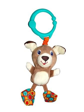 Развивающая игрушка  Дрожащий дружок , Собачка - Детские погремушки и подвесные игрушки на кроватку, артикул: 97347
