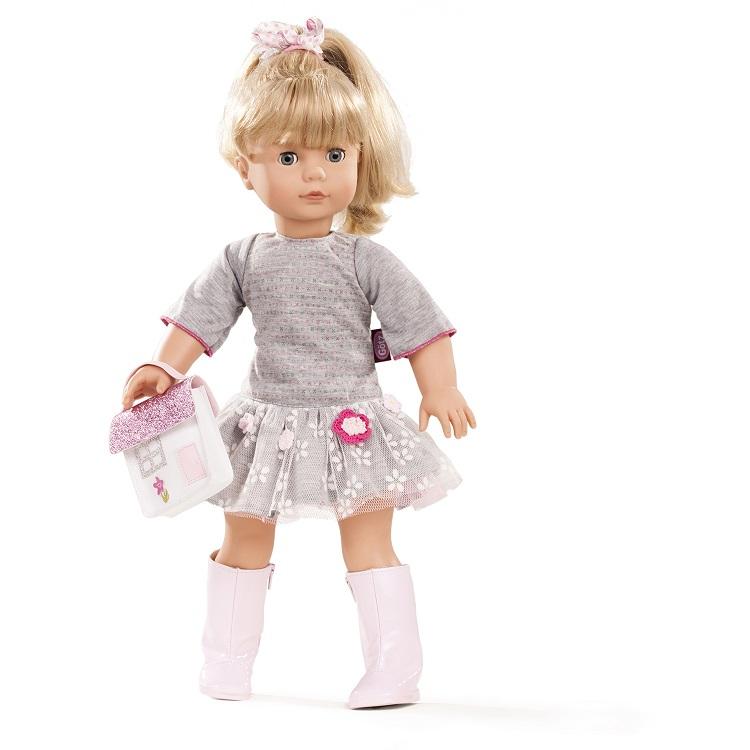Кукла Джессика блондинка в сером платье, 46 см.Куклы Gotz (Гетц)<br>Кукла Джессика блондинка в сером платье, 46 см.<br>