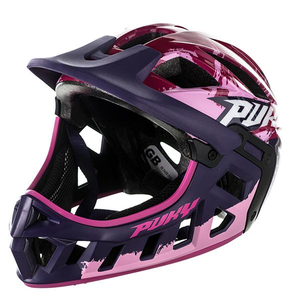 Купить Шлем фулфейс Puky размер M 54-58, цвет – pink/розовый