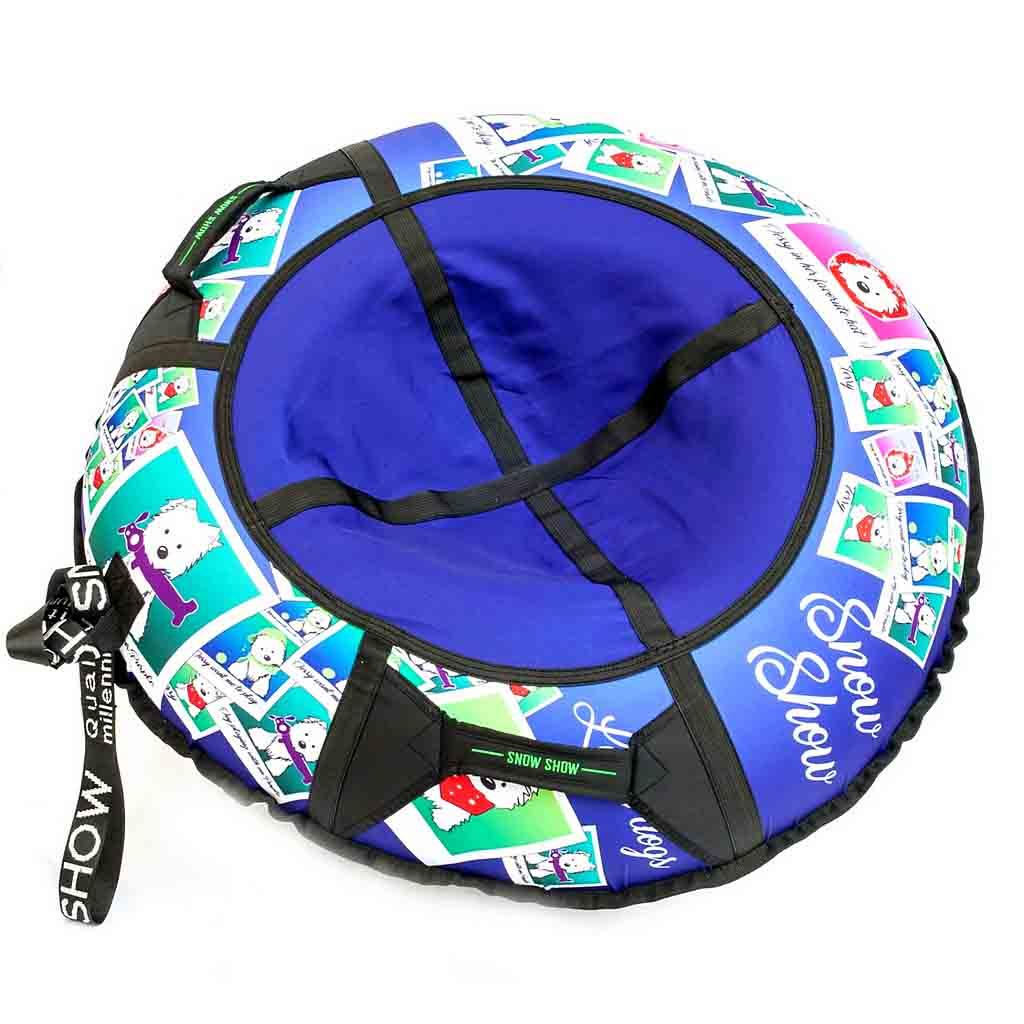 Санки надувные – Тюбинг, фотосессия собачек, диаметр 105 смВатрушки и ледянки<br>Санки надувные – Тюбинг, фотосессия собачек, диаметр 105 см<br>