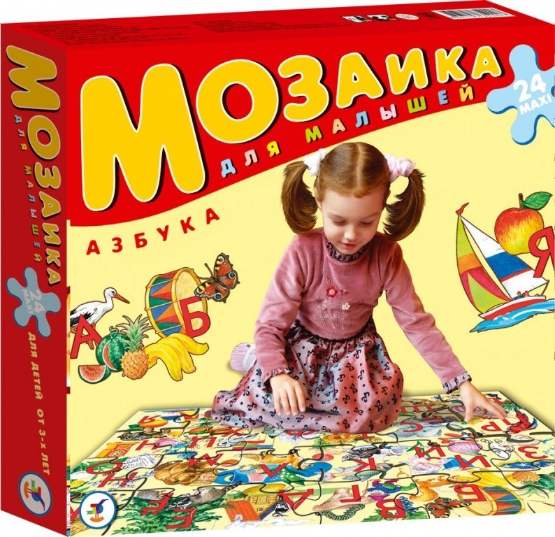 Мозаика для малышей. АзбукаПазлы для малышей<br>Мозаика для малышей. Азбука<br>