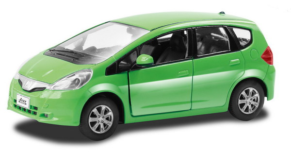 Купить Металлическая инерционная машина - Honda Jazz, 1:32, зеленая, RMZ City