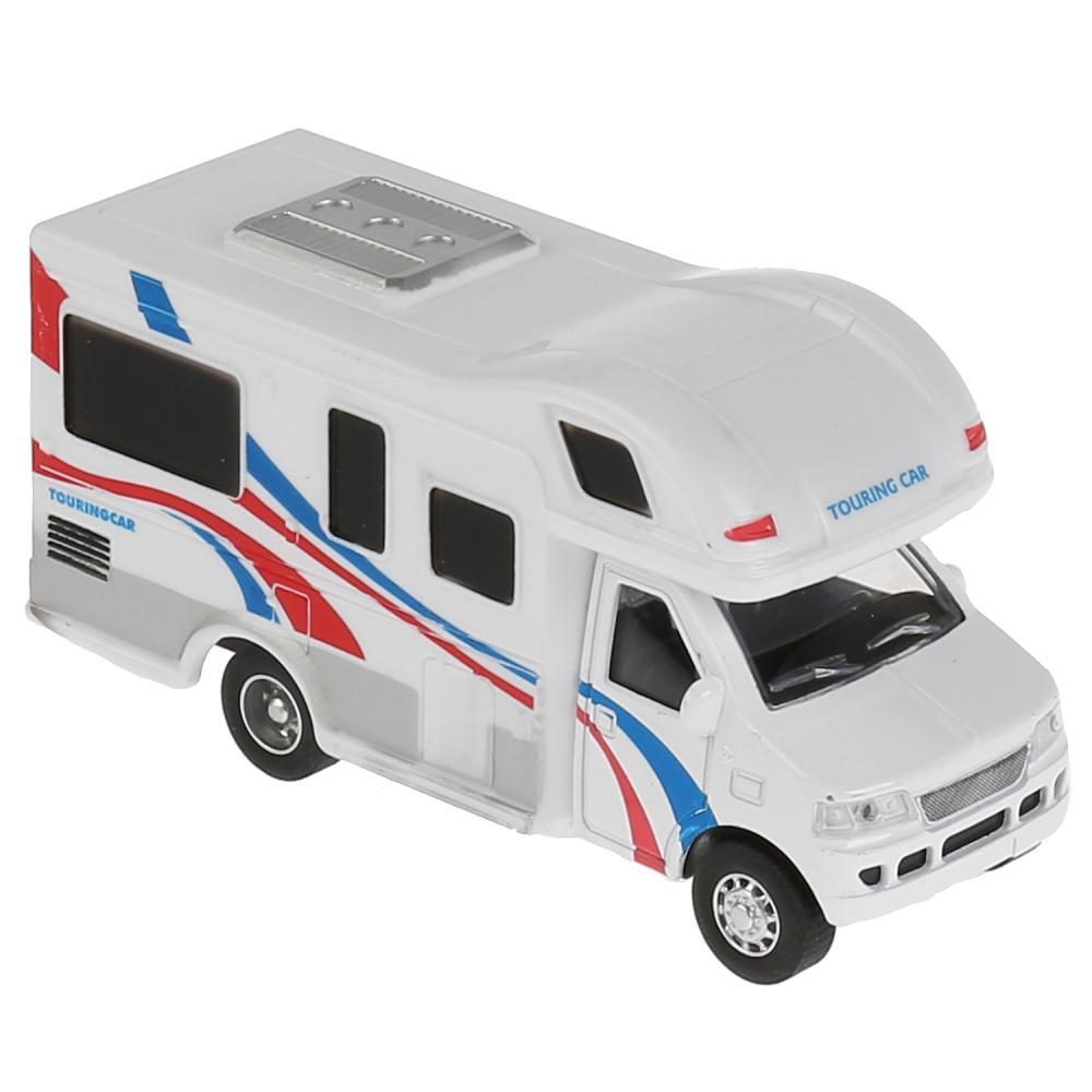 Купить Металлическая инерционная машина – Дом на колесах, 12, 5 см, открывающаяся боковая дверь, Технопарк