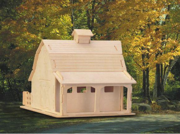 Сборная деревянная модель - ФермаПазлы объёмные 3D<br>Сборная деревянная модель - Ферма<br>