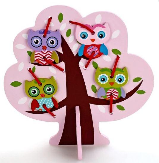 Купить Шнуровка - Дерево с совятами, Mapacha