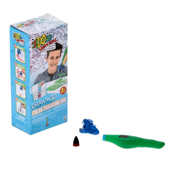 Ручка 3D – Вертикаль: Магия цвета, 1 шт.Детский 3D принтер QIXELS<br>Ручка 3D – Вертикаль: Магия цвета, 1 шт.<br>