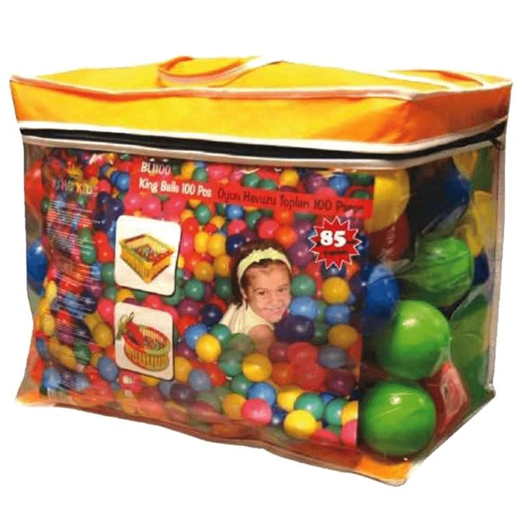 Купить Шары для манежа в сумке, 100 штук, 6, 5 см, King Kids