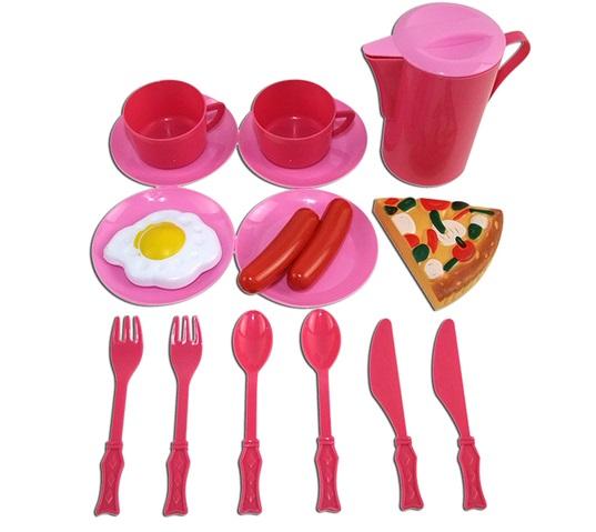 Помогаю Маме. Набор посуды для кухни, 15 предметовАксессуары и техника для детской кухни<br>Помогаю Маме. Набор посуды для кухни, 15 предметов<br>
