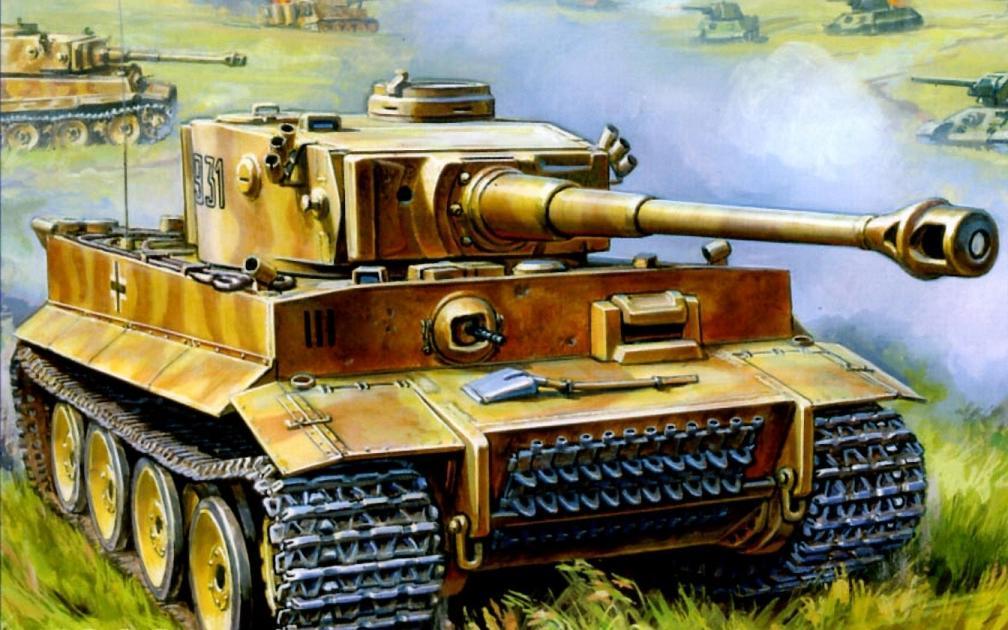 Подарочный набор  Модель для склеивания  Немецкий тяжёлый танк Т-VI Тигр - Модели для склеивания, артикул: 98633