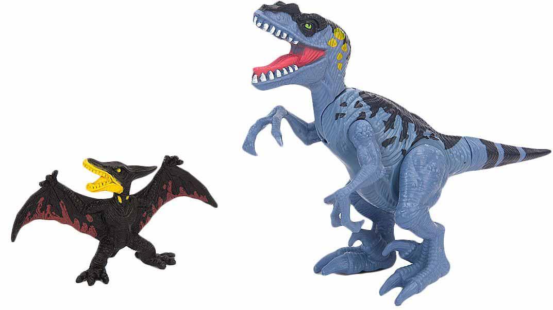 Подвижная фигура Тираннозавра с птеродактилемЖизнь динозавров (Prehistoric)<br>Подвижная фигура Тираннозавра с птеродактилем<br>