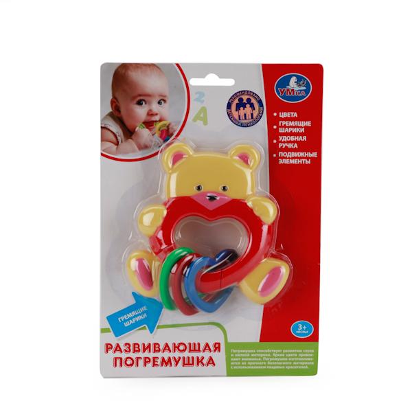 Погремушка - МишкаДетские погремушки и подвесные игрушки на кроватку<br>Погремушка - Мишка<br>