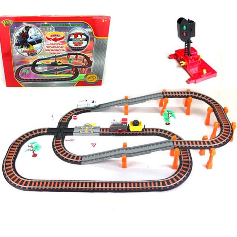 Железная дорога - Останови крушение, 2-х ярусная, с перекрёстком и семафоромДетская железная дорога<br>Железная дорога - Останови крушение, 2-х ярусная, с перекрёстком и семафором<br>