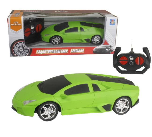 картинка Машина на р/у Спортавто, 20 см, масштаб 1:24, 27 МГц, матовый зеленый от магазина Bebikam.ru
