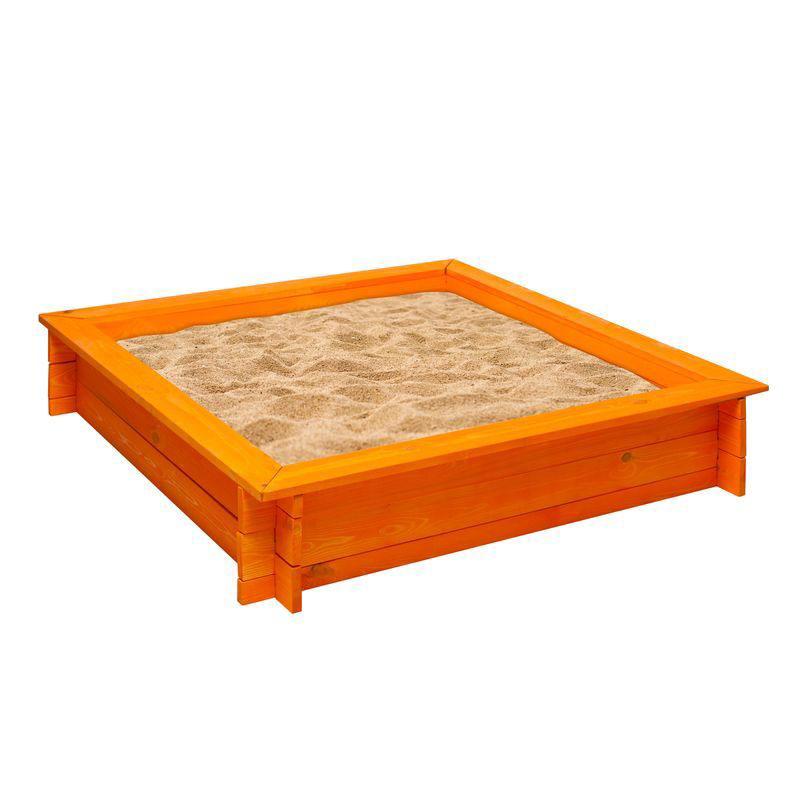 Деревянная песочница – Афина, оранжевая - Детские песочницы, артикул: 160378