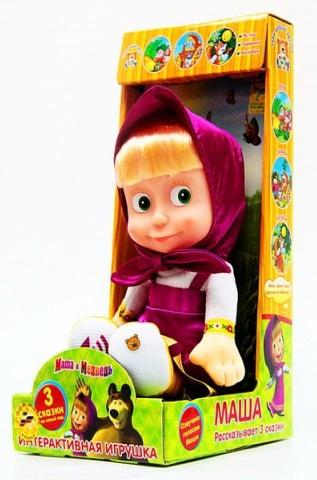 Мягкая игрушка Маша из мультфильма «Маша и медведь», рассказывает 3 сказки - Маша и медведь игрушки, артикул: 131336