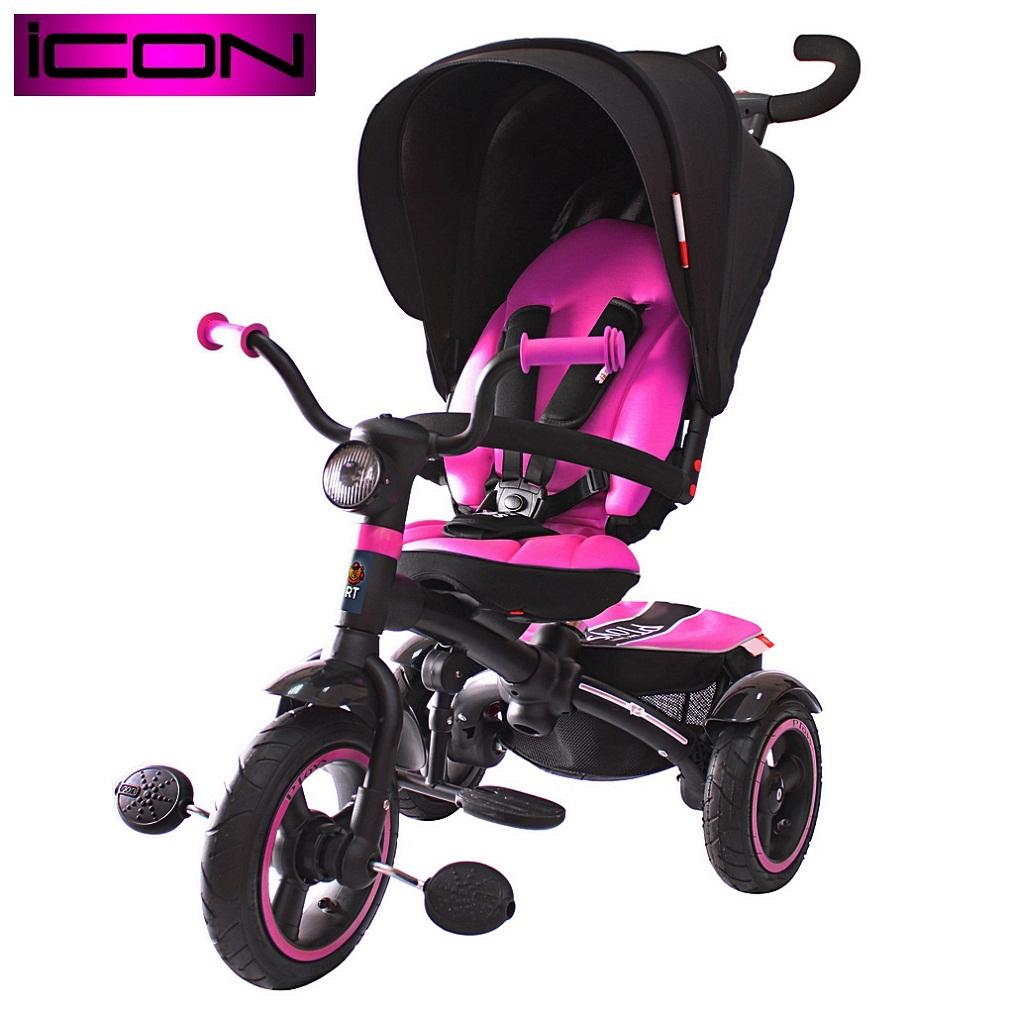Icon 5 RT 3-х колесный велосипед-коляска VIP V5 by Natali Prigaro, pinkВелосипеды детские<br>Icon 5 RT 3-х колесный велосипед-коляска VIP V5 by Natali Prigaro, pink<br>