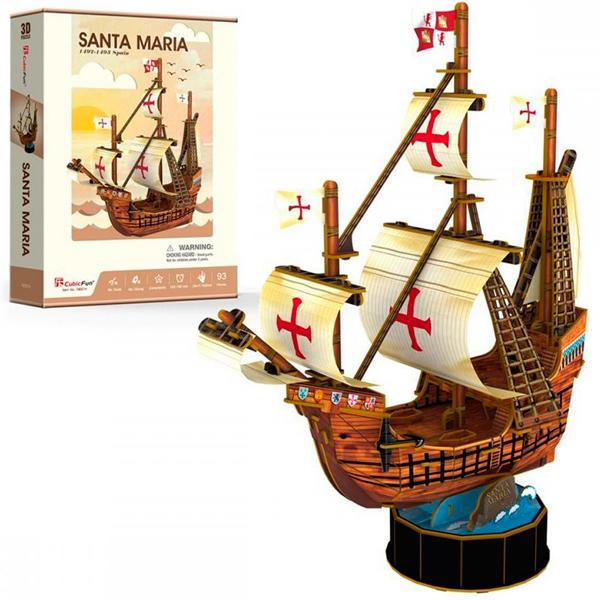 Купить Объемный пазл - Корабль Санта Мария, 93 деталей, Cubic Fun