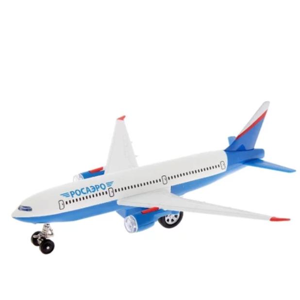 Инерционная металлическая модель – Самолет, свет, звукКоллекционные модели самолетов<br>Инерционная металлическая модель – Самолет, свет, звук<br>