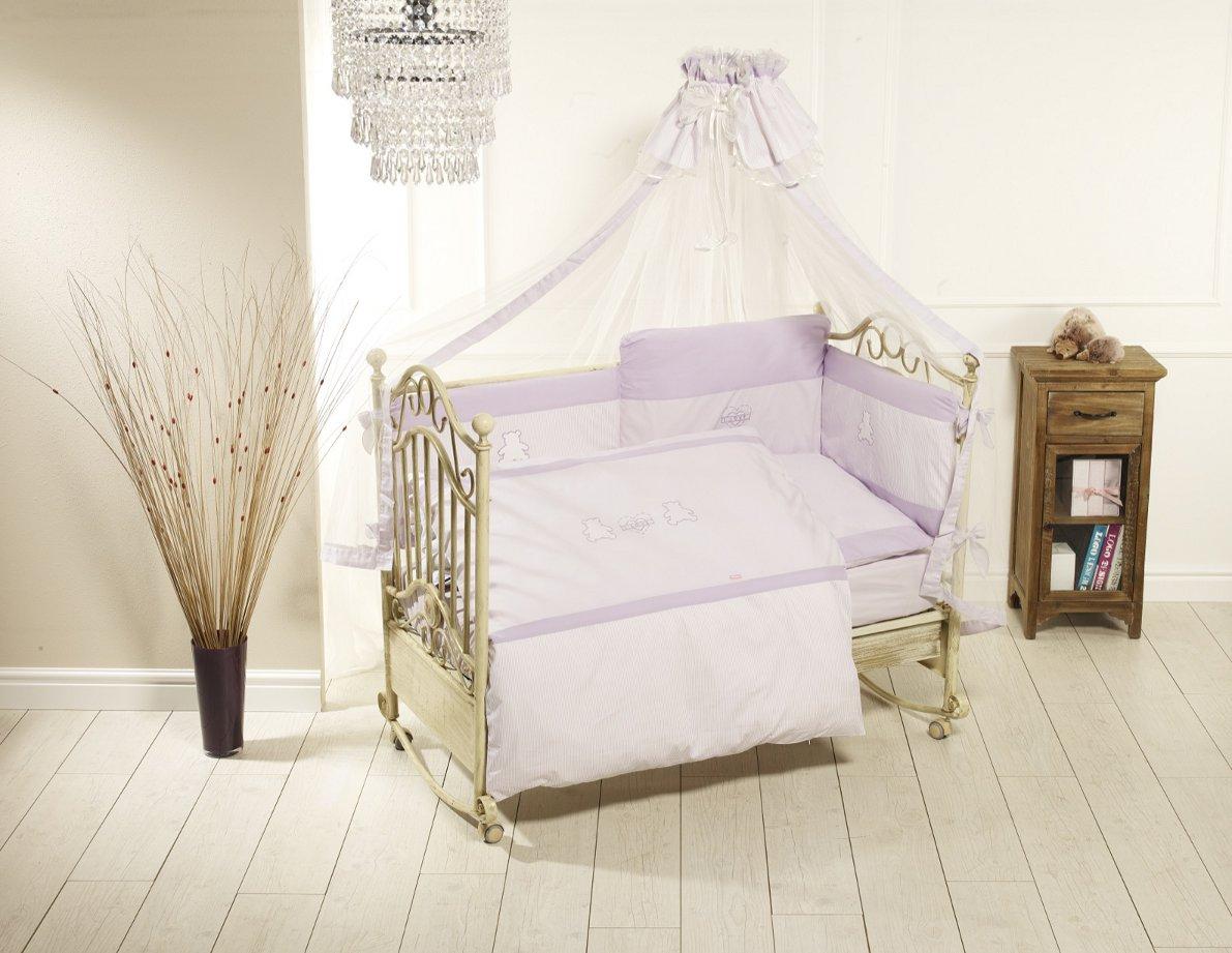 Комплект постельного белья Orsetti лонг, 6 предметов, фиолетовыйДетское постельное белье<br>Комплект постельного белья Orsetti лонг, 6 предметов, фиолетовый<br>